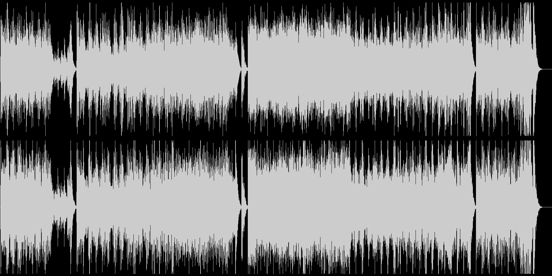力強いフレージングで展開する弦楽曲の未再生の波形