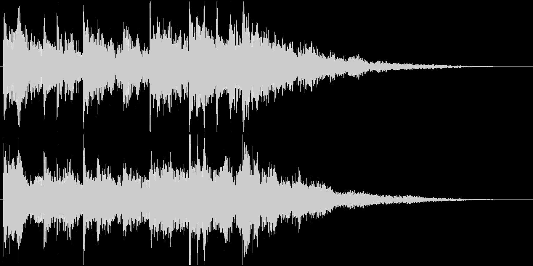 ラジオジングル(さわやかな起動音風)の未再生の波形