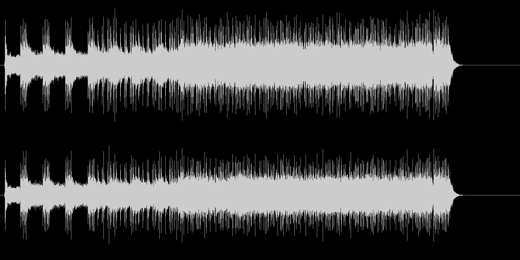 エキサイティングなスポーティロックの未再生の波形