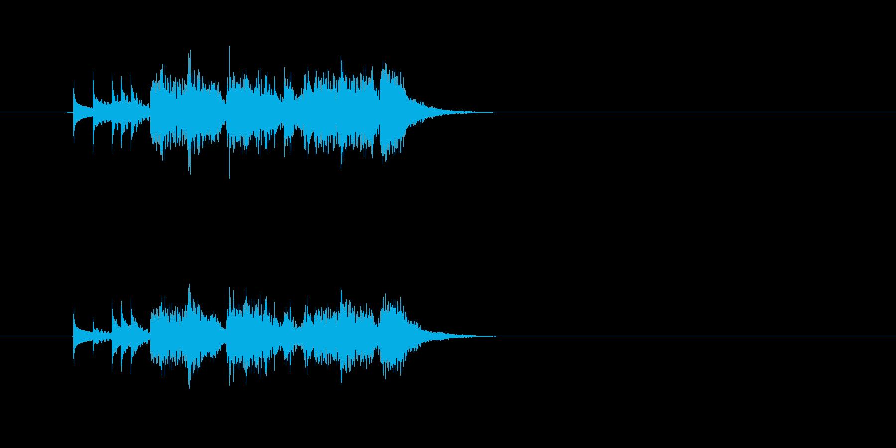 シンセサイザー 爽やか スタイリッシュの再生済みの波形