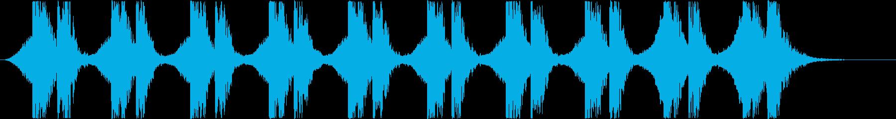 """""""緊張感"""" / 打楽器+シンセの再生済みの波形"""