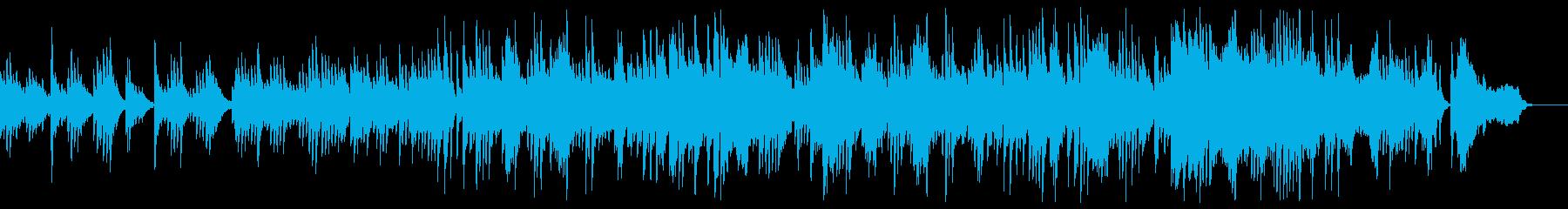 美しく感動的なピアノ&ストリングス映像等の再生済みの波形