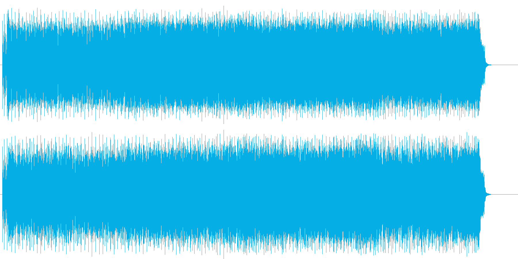 ギターが炸裂するアメリカン・ハードの再生済みの波形