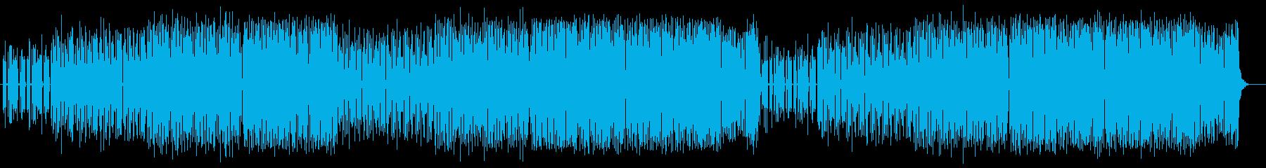 軽快で近未来感が特徴のテクノポップスの再生済みの波形