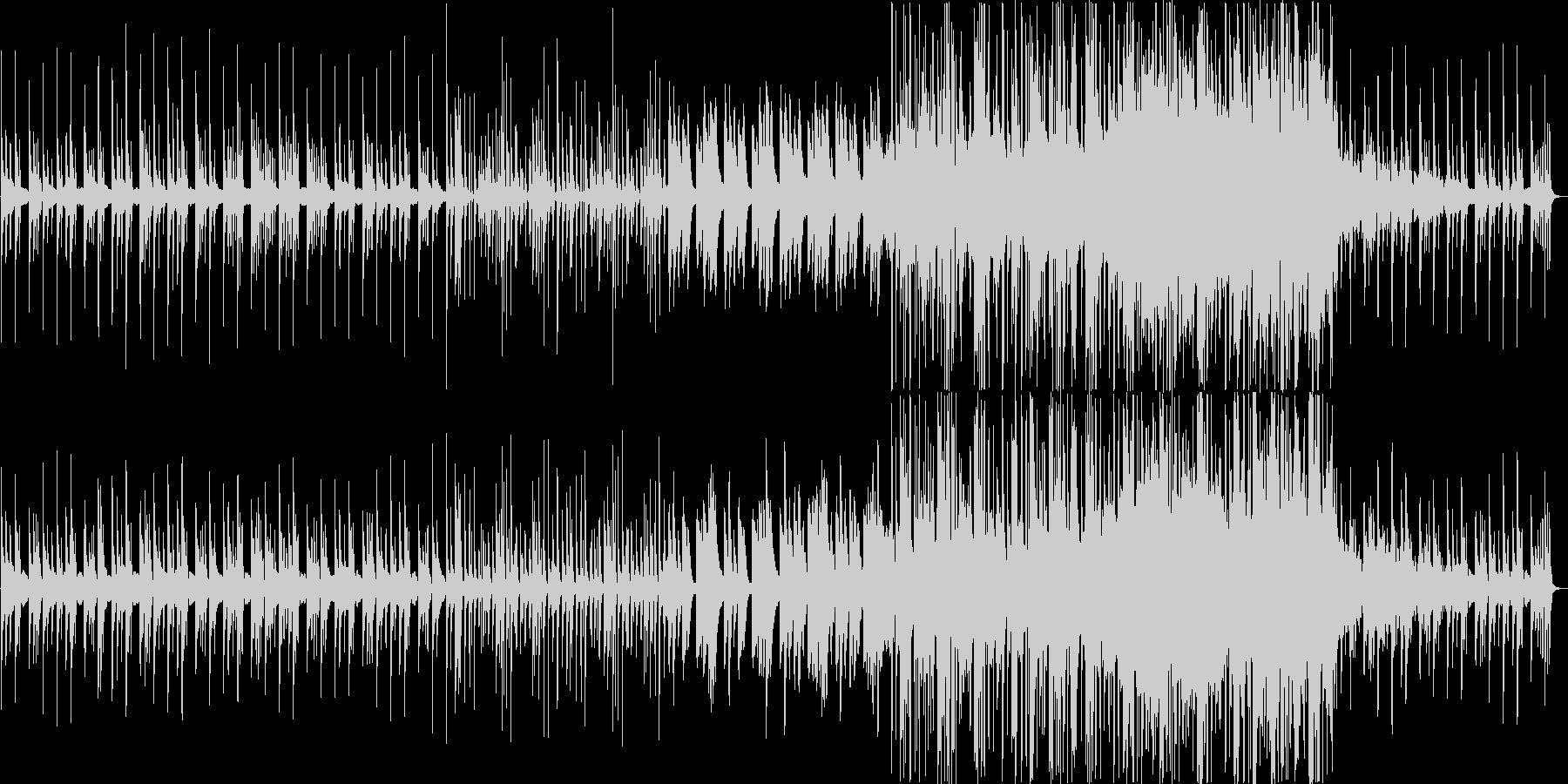 懐かしさを感じる温かいメロディのBGMの未再生の波形