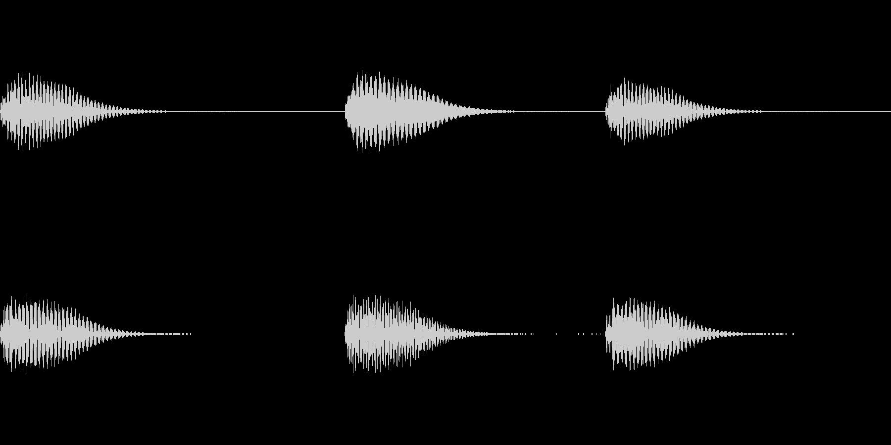 CMに合うようなピアノサウンドロゴの未再生の波形