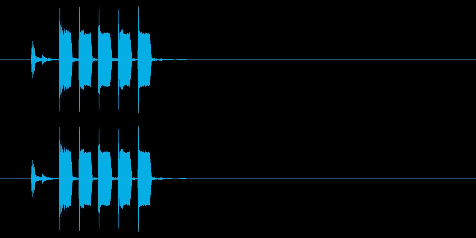 改札 ビープ音01-04(音色1)の再生済みの波形