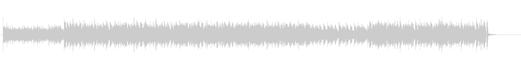 エレクトロミュージック風のBGMの未再生の波形