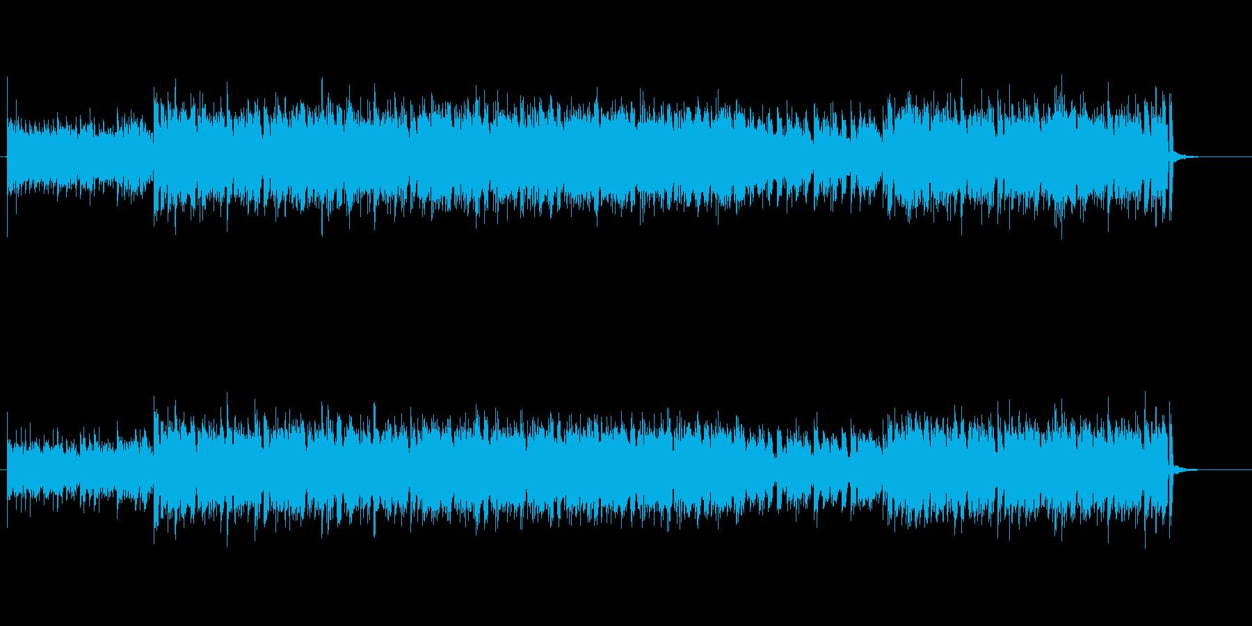 エレクトロミュージック風のBGMの再生済みの波形
