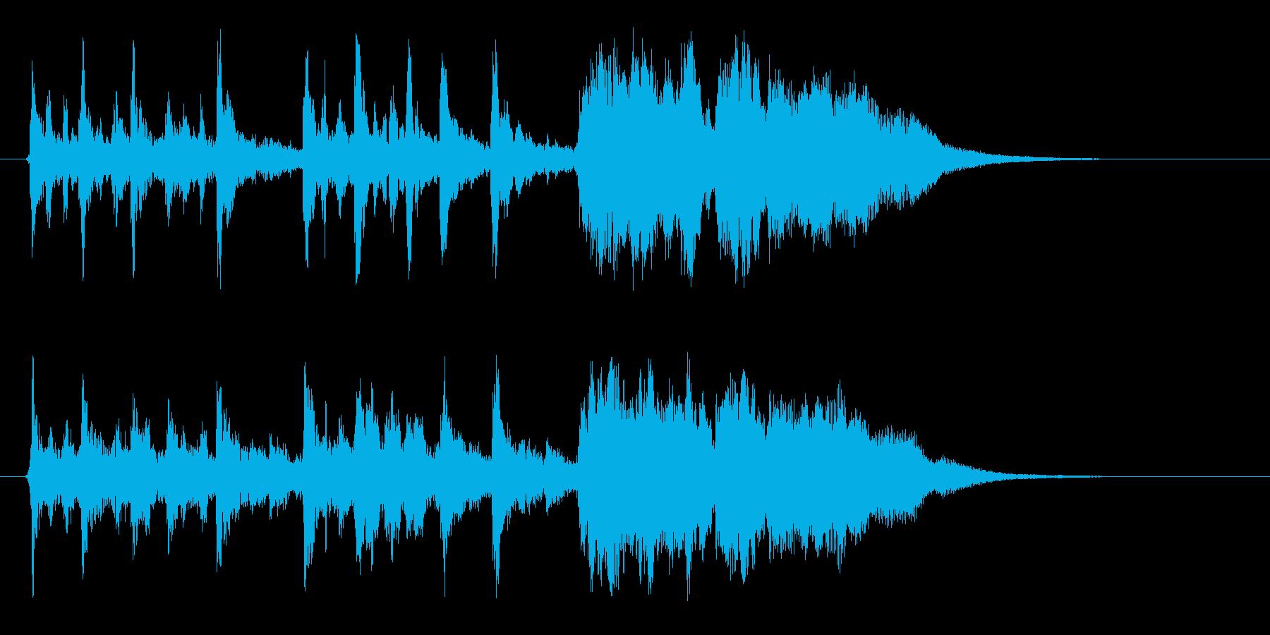 幻想的なハーモニー音楽の再生済みの波形