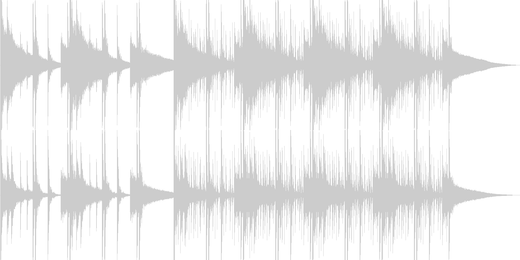 チベタンな音楽の未再生の波形