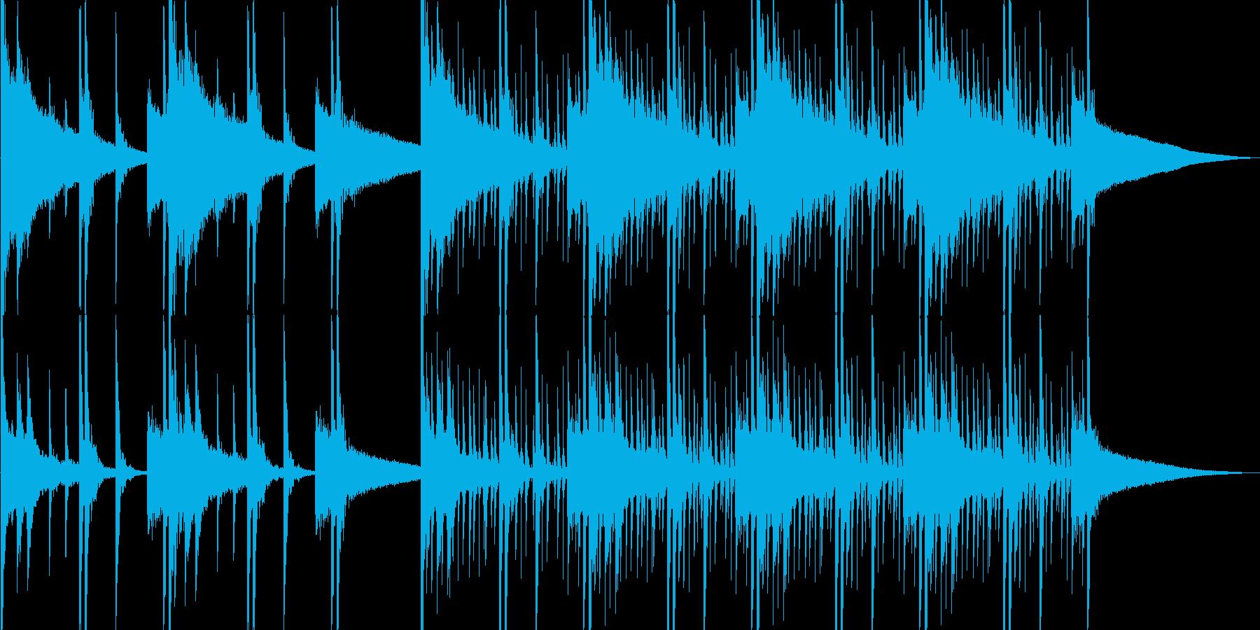 チベタンな音楽の再生済みの波形
