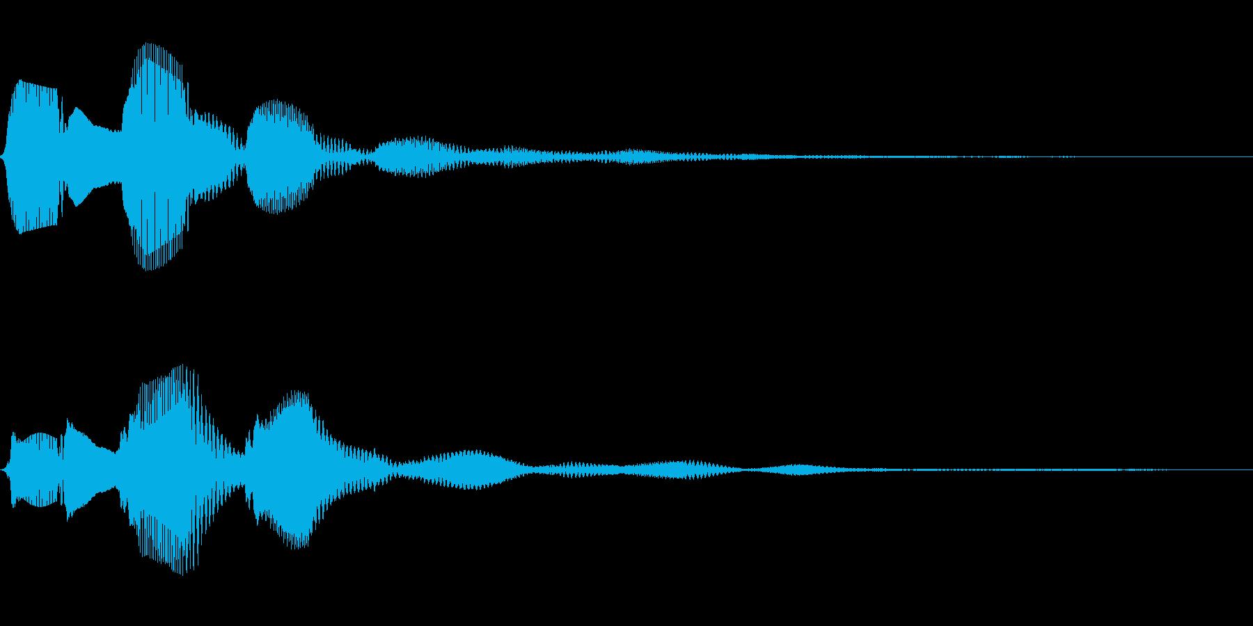 パピコン(ダイアログ開く_02)の再生済みの波形