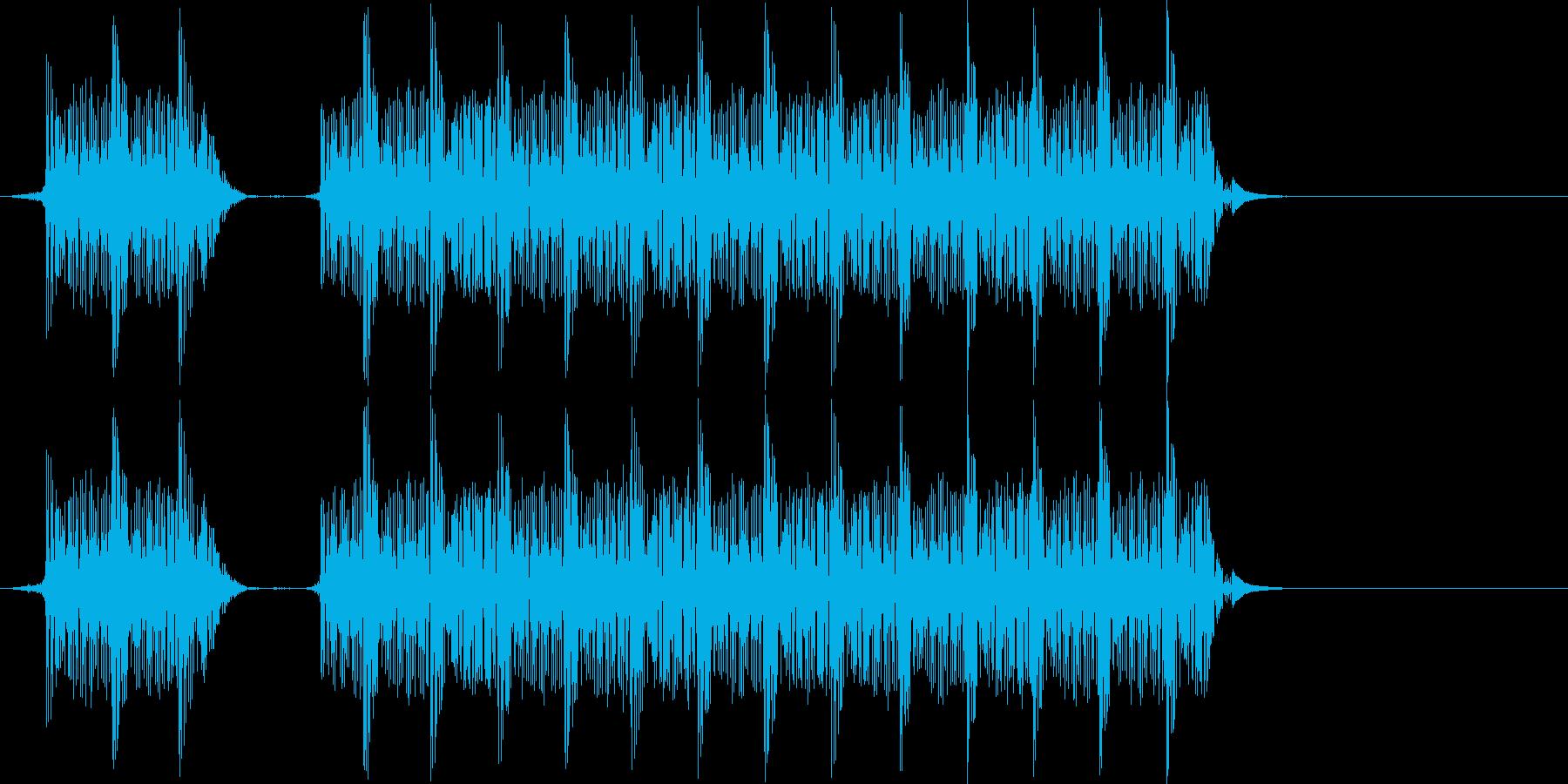 不正解音 警告音の再生済みの波形