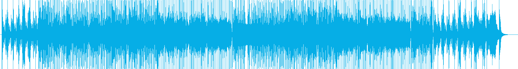 リズム&ブルース風のご機嫌なソングの再生済みの波形