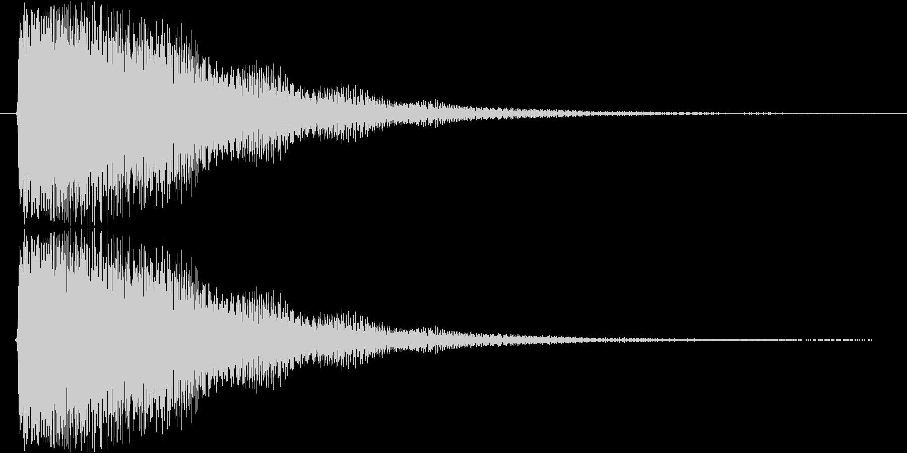 ピカーン(ひらめいた感じ)の未再生の波形