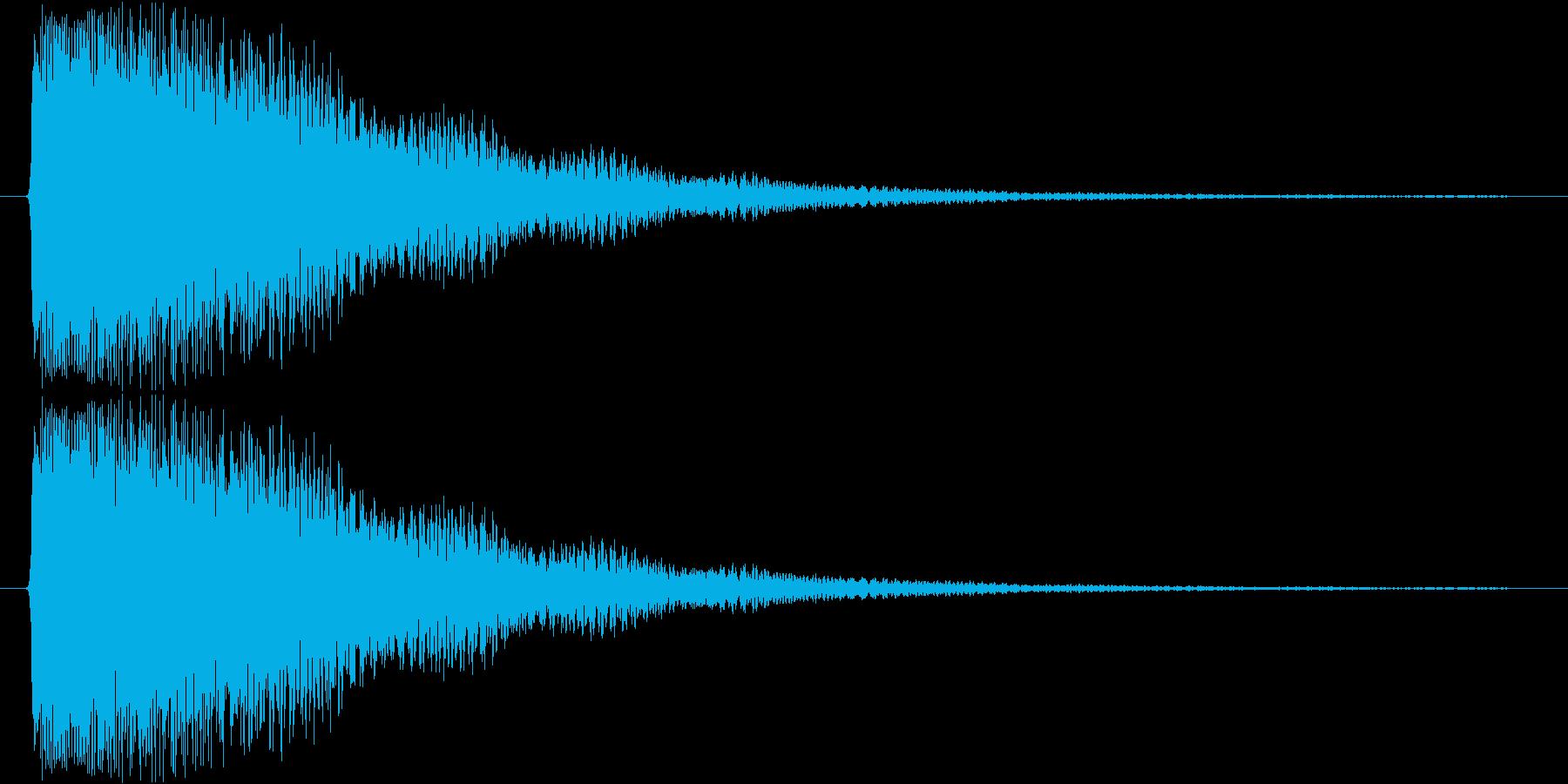 ピカーン(ひらめいた感じ)の再生済みの波形
