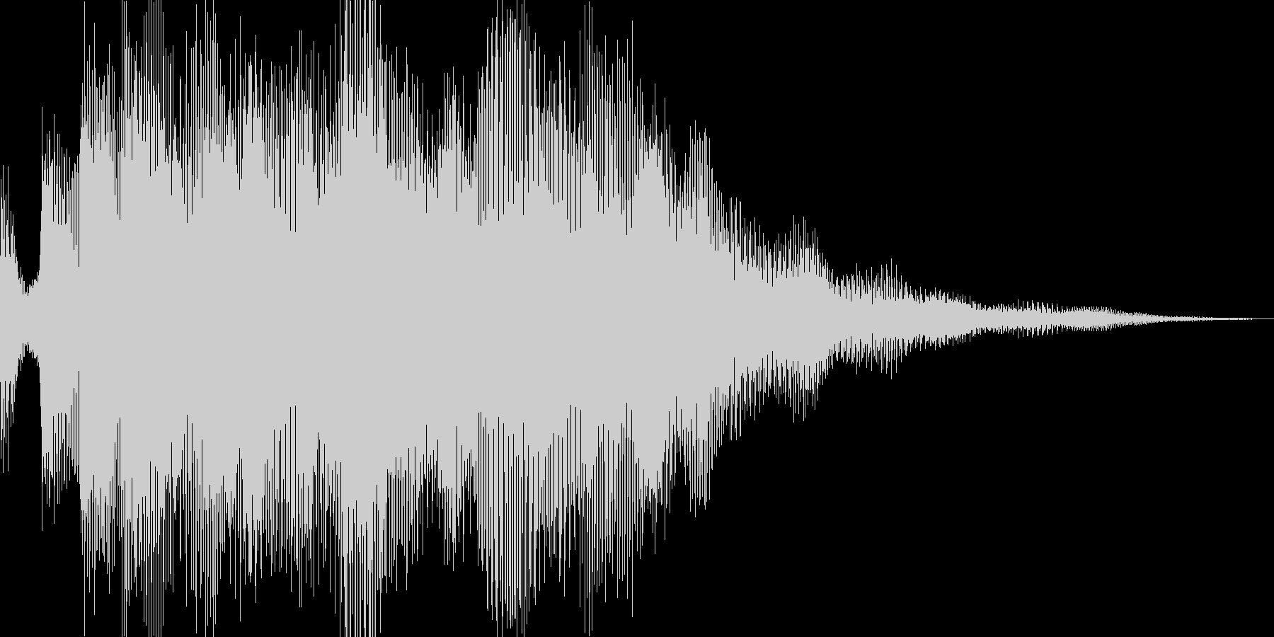 アプリのショートジングルの未再生の波形