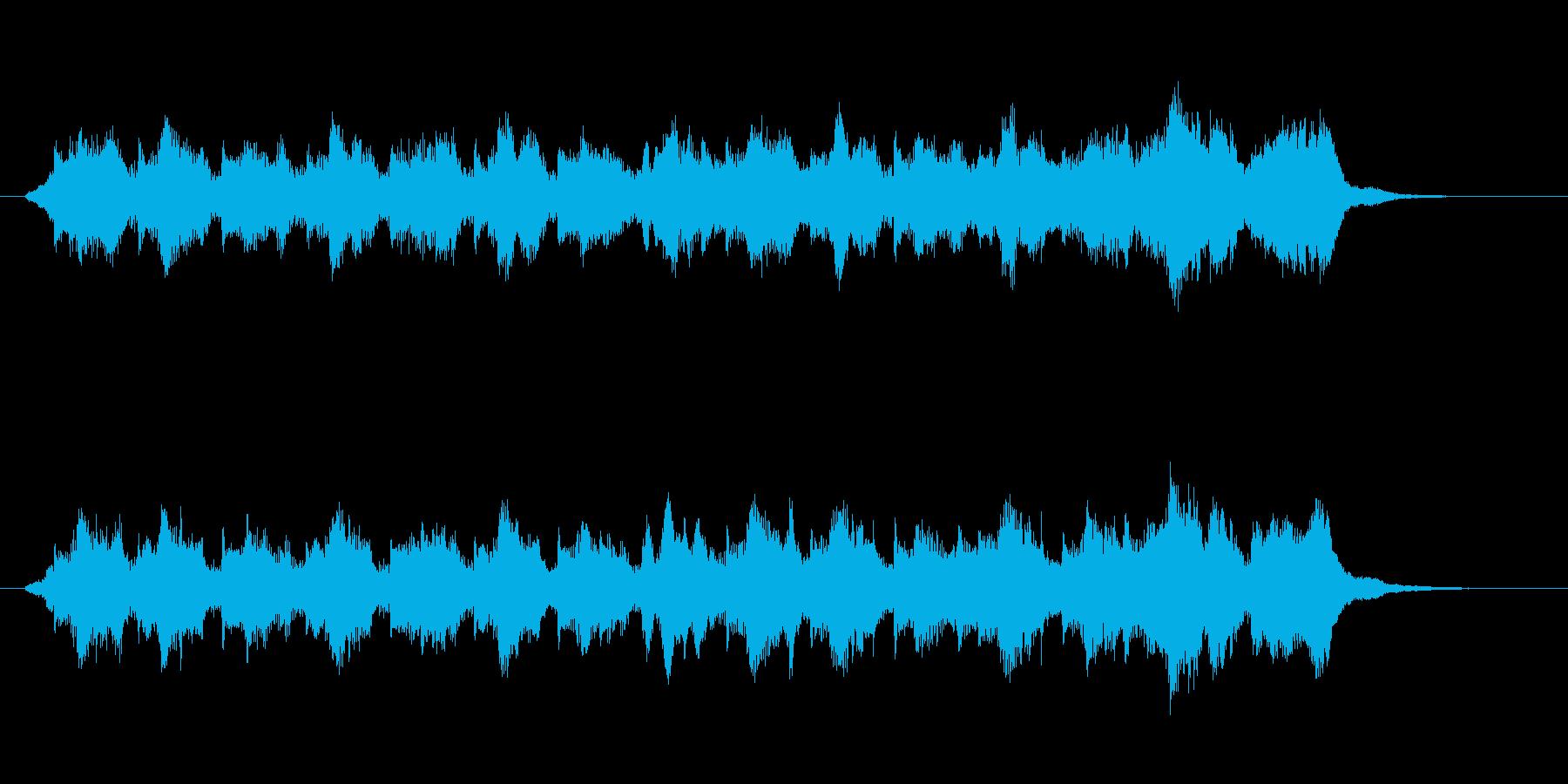 オーケストラのかわいい場面転換ジングルの再生済みの波形