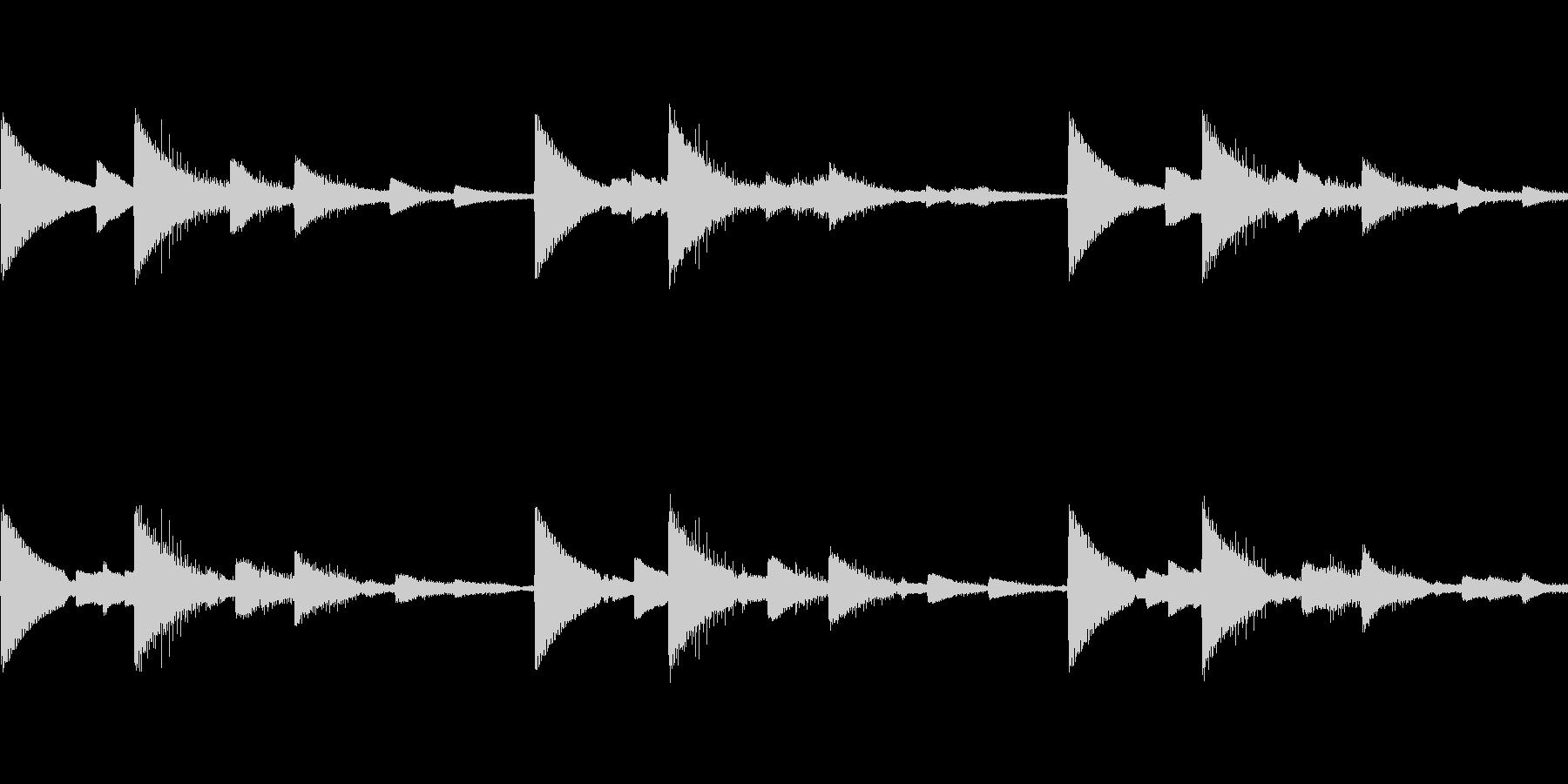 ピンチアラームブザー音 ピコピコ ループの未再生の波形