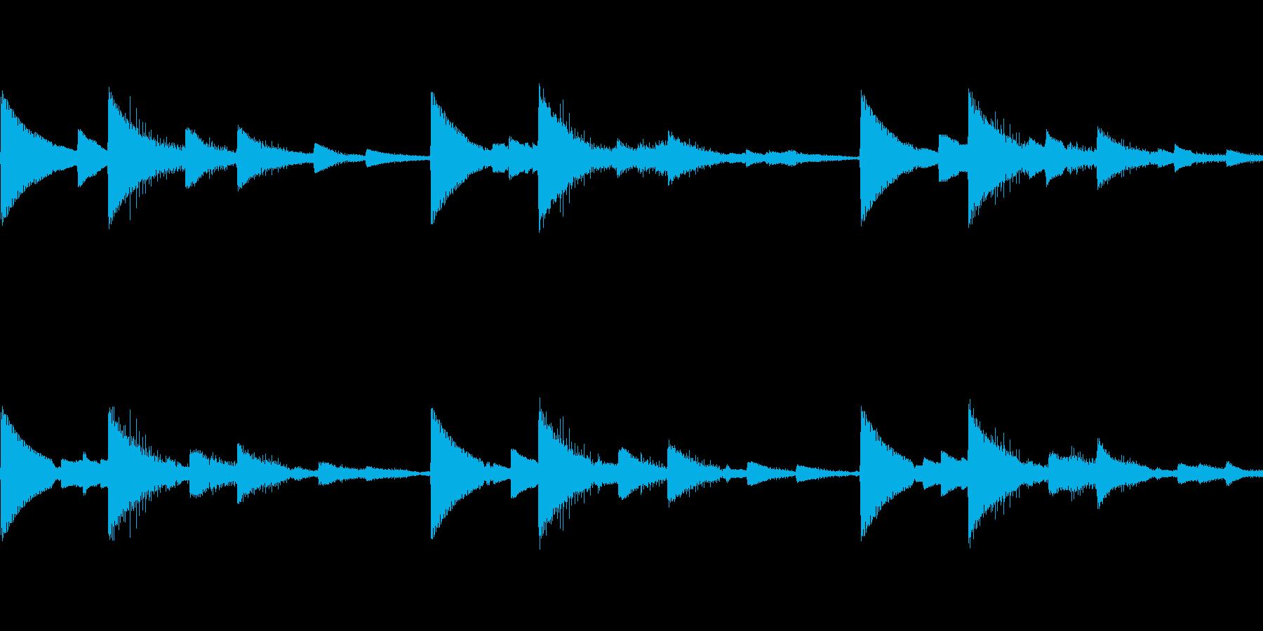 ピンチアラームブザー音 ピコピコ ループの再生済みの波形