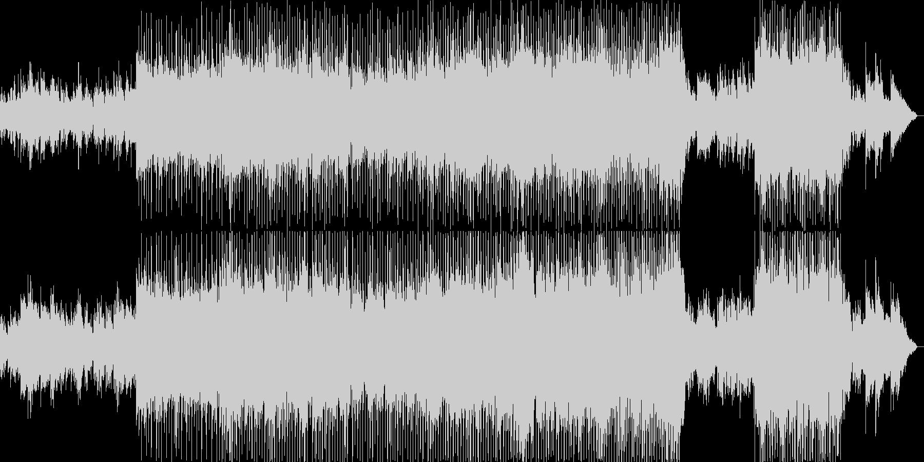 明るくほのぼのとしたポップバラードの未再生の波形