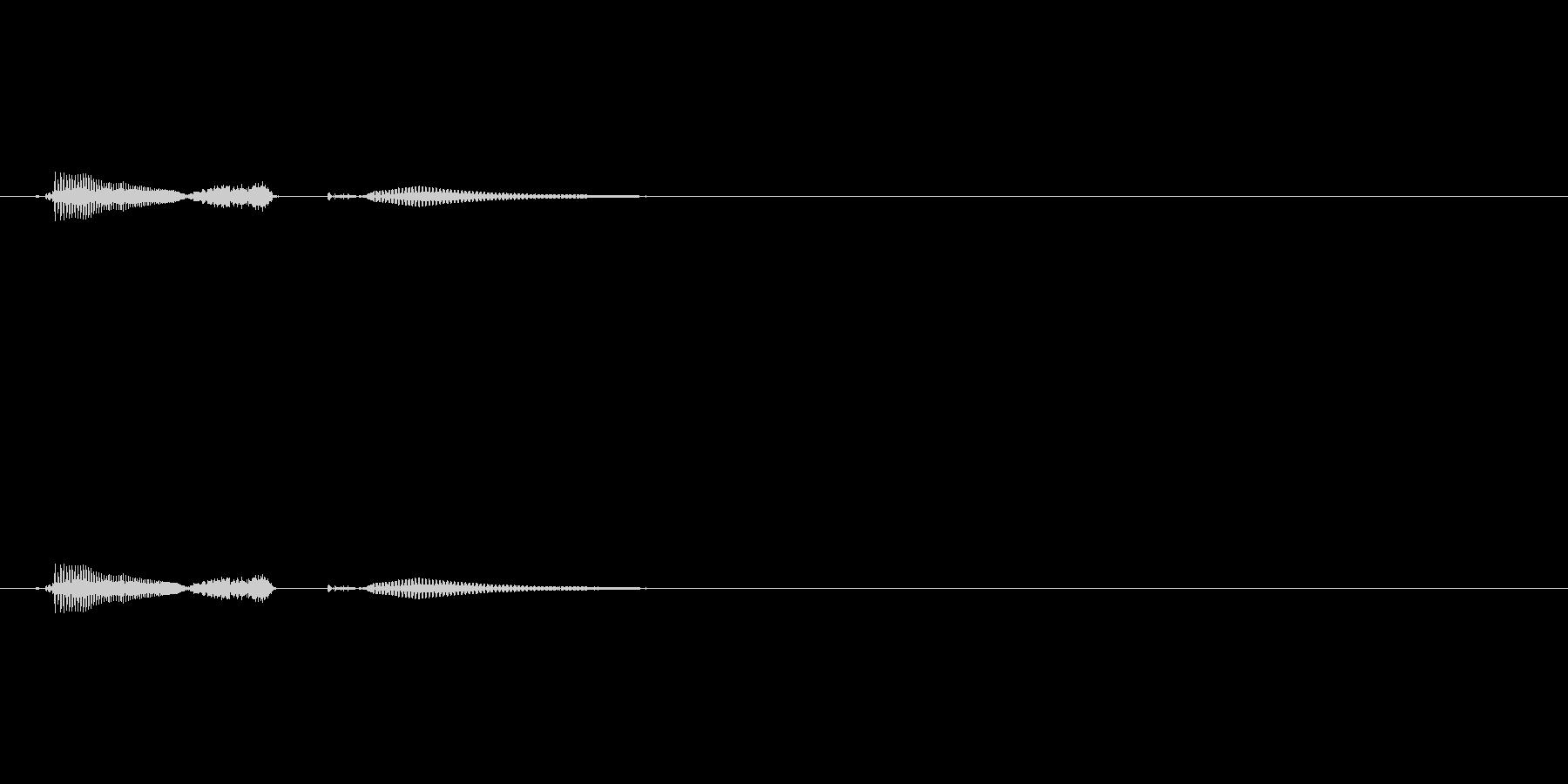 icecream (英語の発音でアイス…の未再生の波形