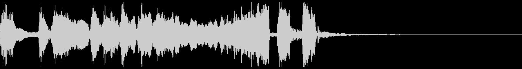 シンプルなファンファーレ3+ハモの未再生の波形