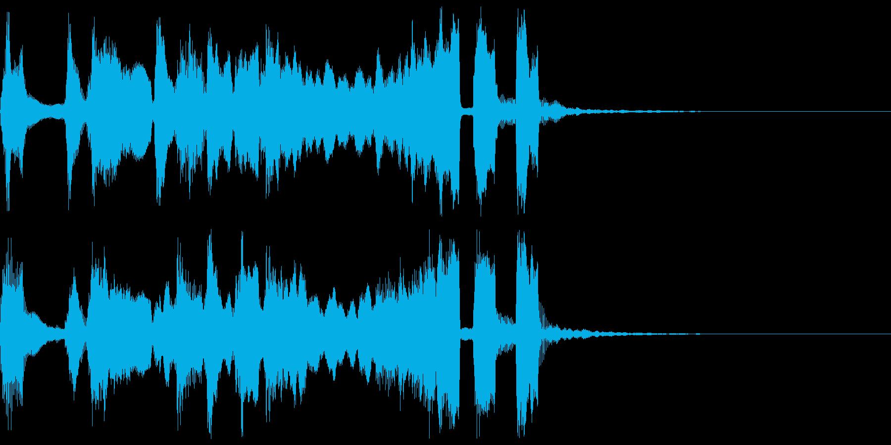 シンプルなファンファーレ3+ハモの再生済みの波形