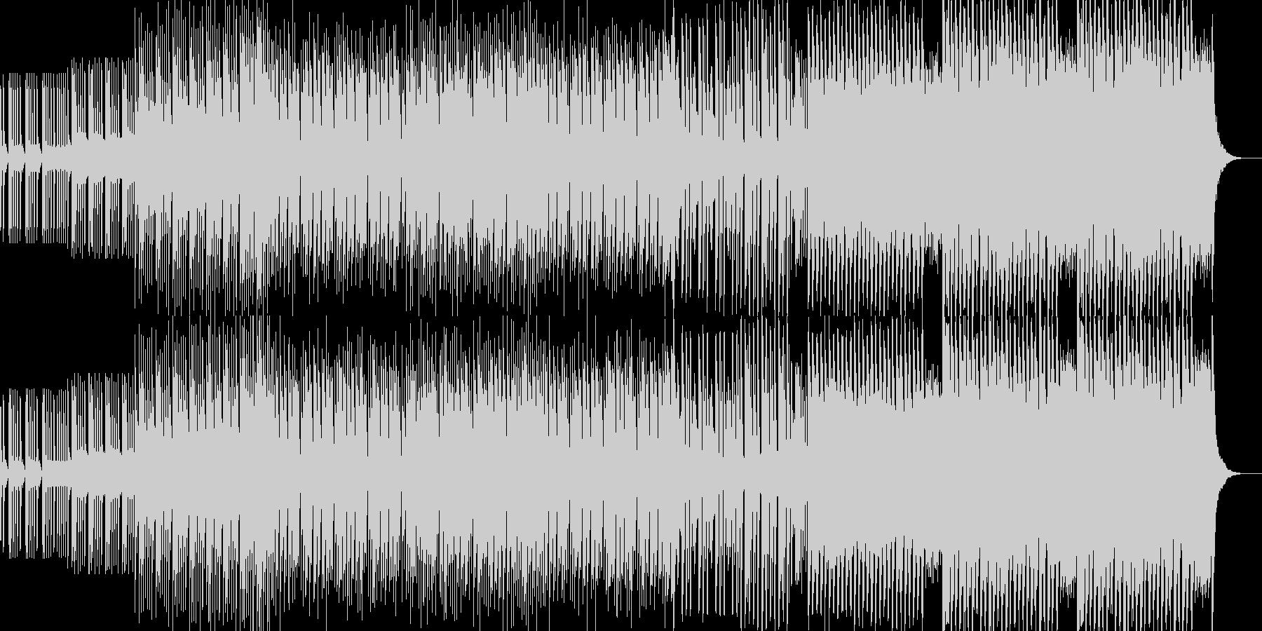 シンプルなEDMの未再生の波形