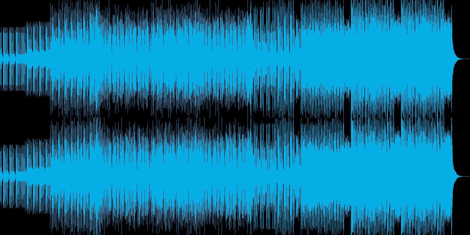 シンプルなEDMの再生済みの波形