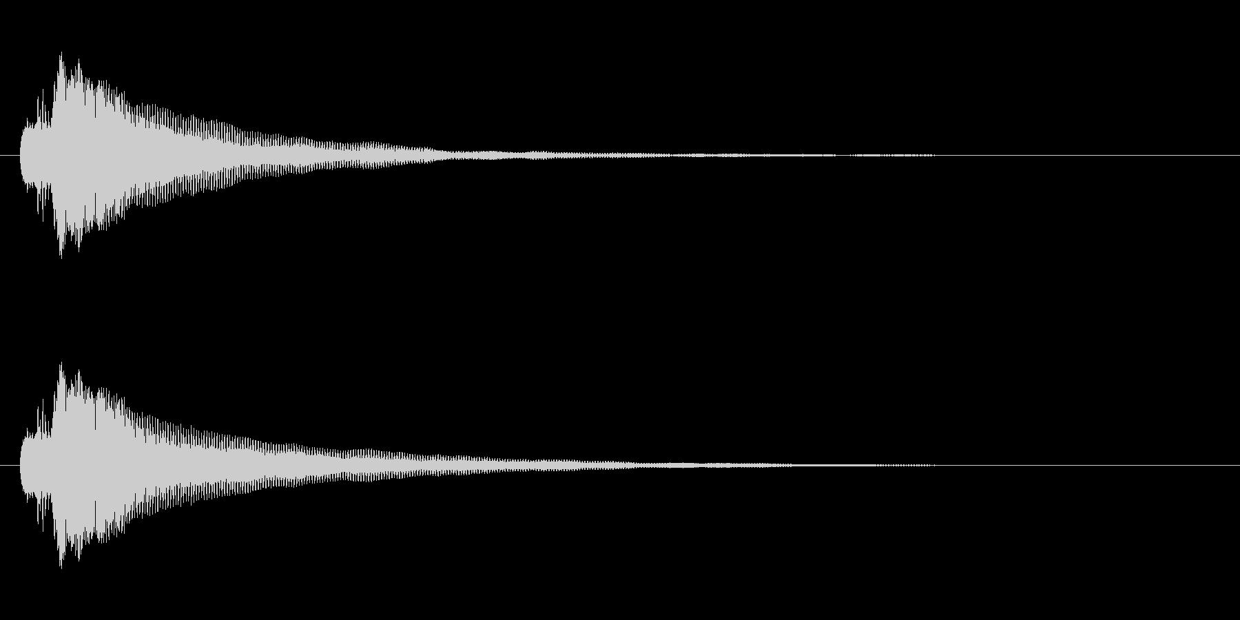 シンプルなボタン音4(タラン↑)の未再生の波形