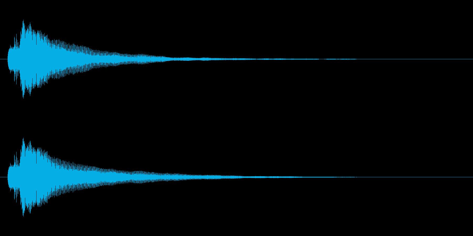 シンプルなボタン音4(タラン↑)の再生済みの波形