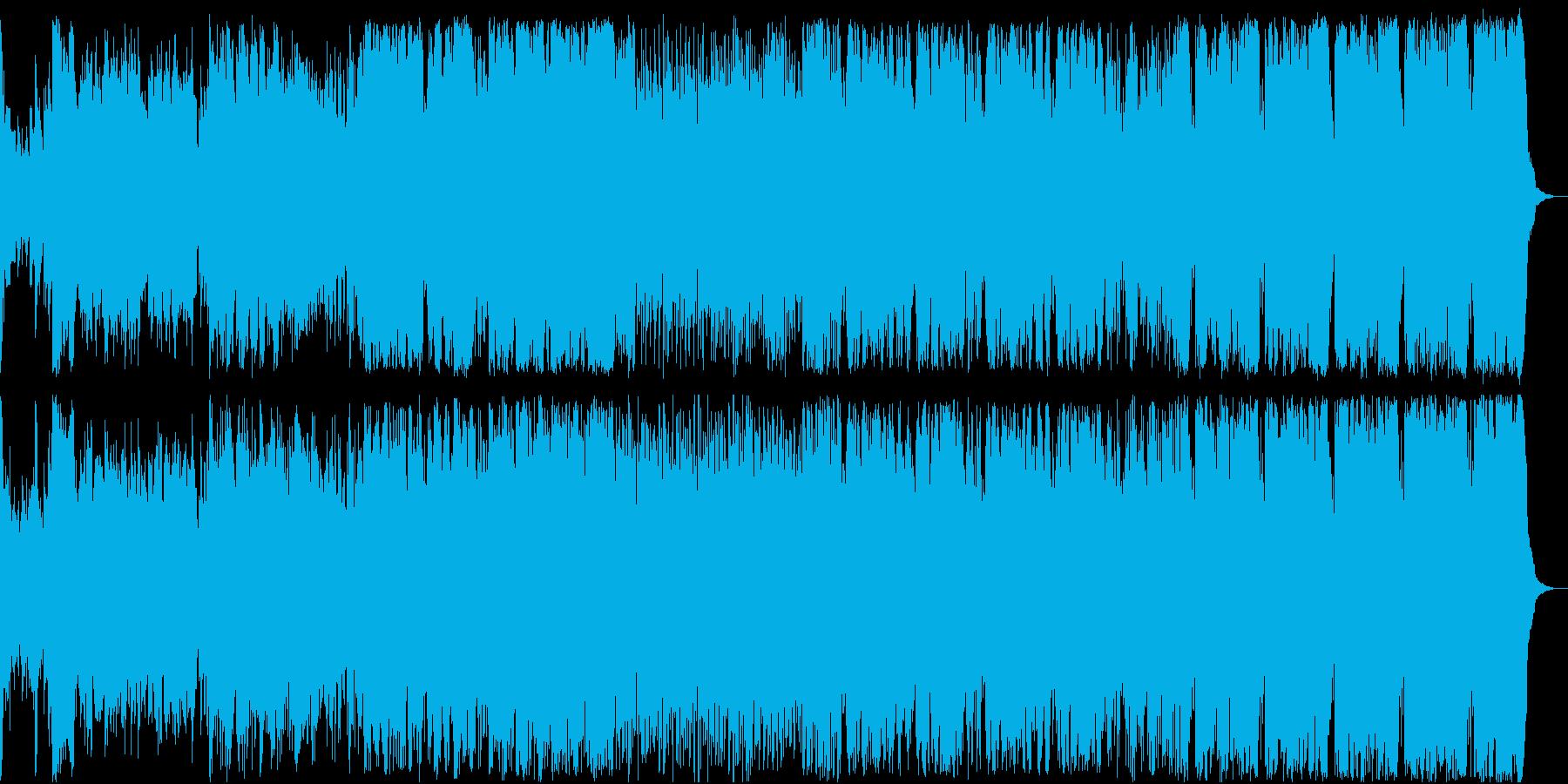 粛々と軍隊が前進するイメージ(陸、海)の再生済みの波形
