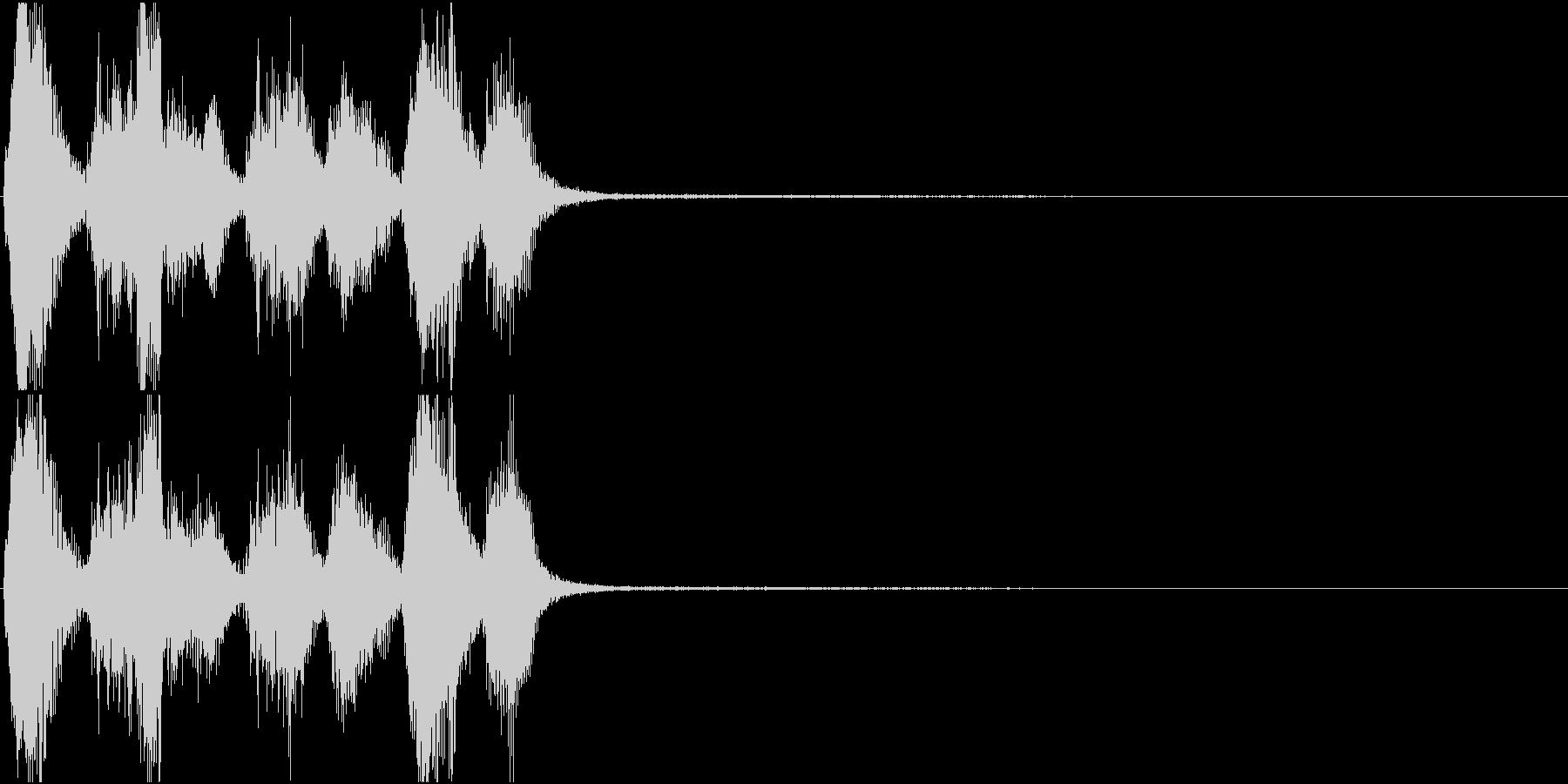 トランペット ファンファーレ 定番 3の未再生の波形