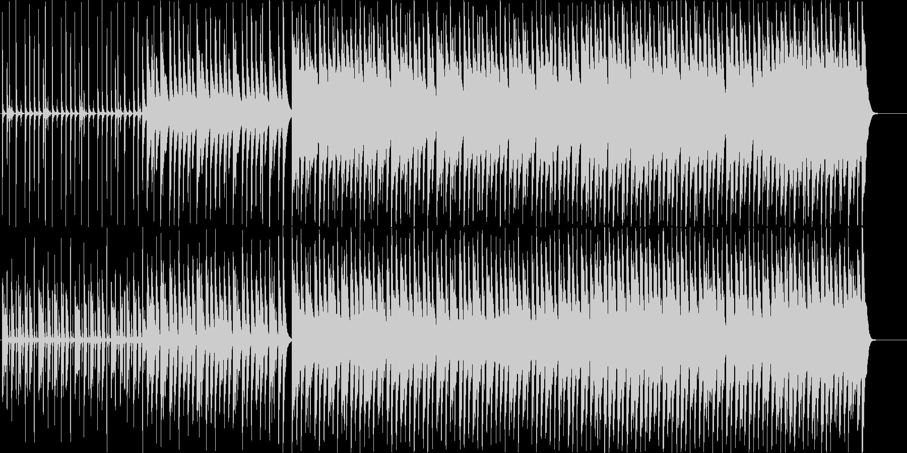 テンポの良い楽しく明るいBGMの未再生の波形