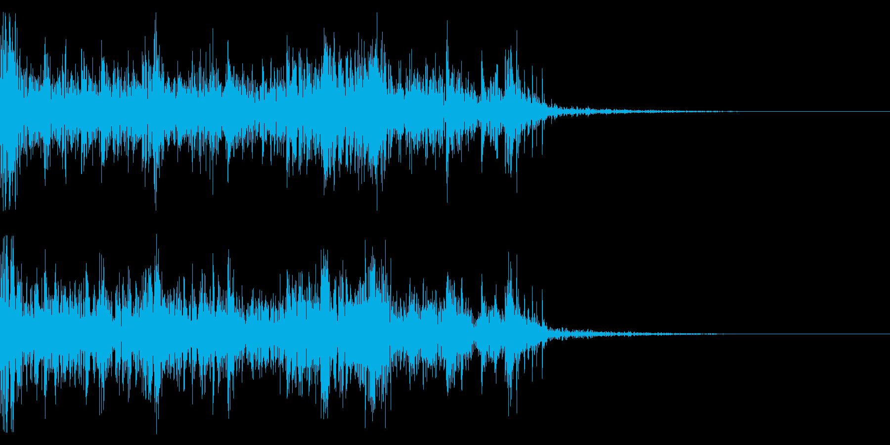 ドンパァ!連続花火のド迫力な効果音!05の再生済みの波形