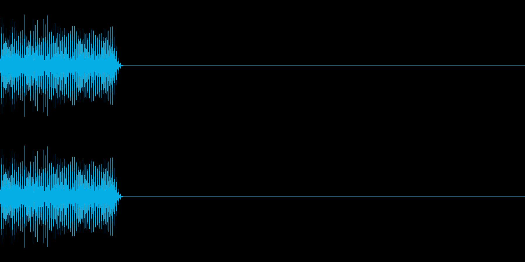 ピロッ_PC、電子的なキー音_03の再生済みの波形