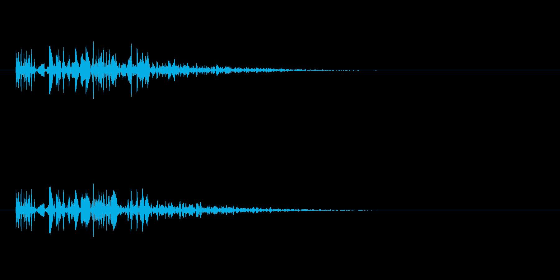 ブツブツの再生済みの波形