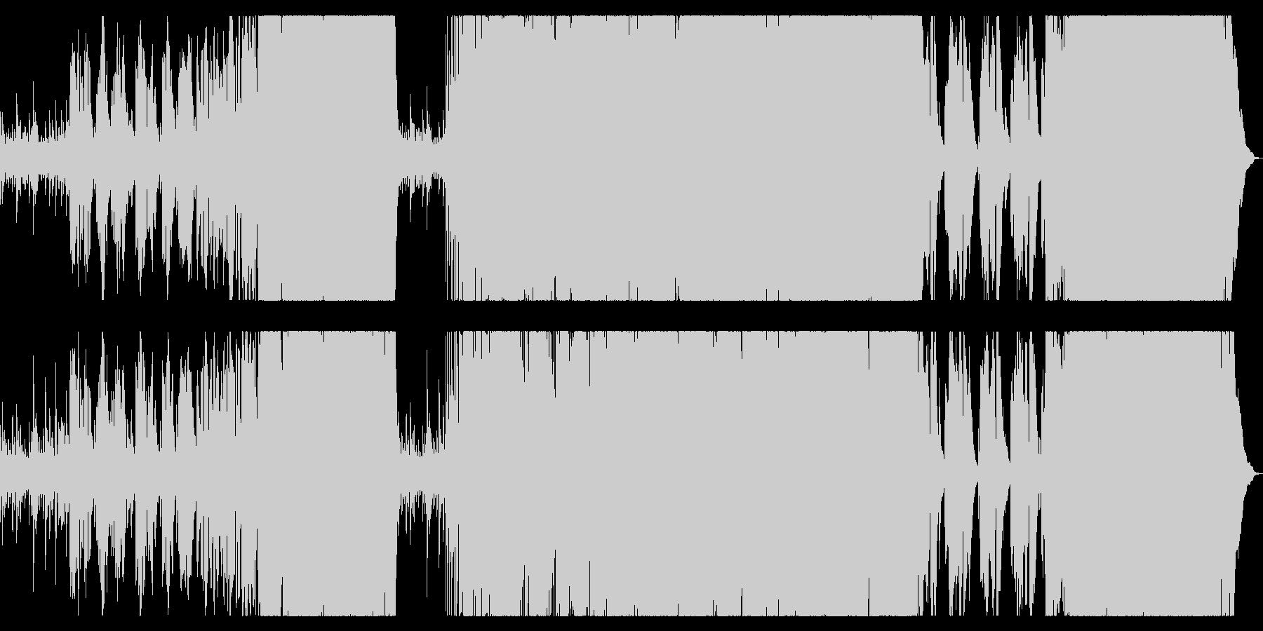 ピアノが印象的な感動のロックバラードの未再生の波形