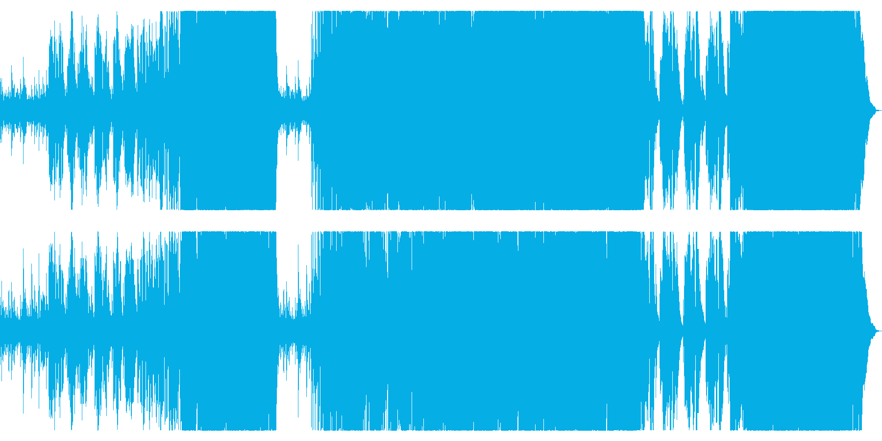 ピアノが印象的な感動のロックバラードの再生済みの波形