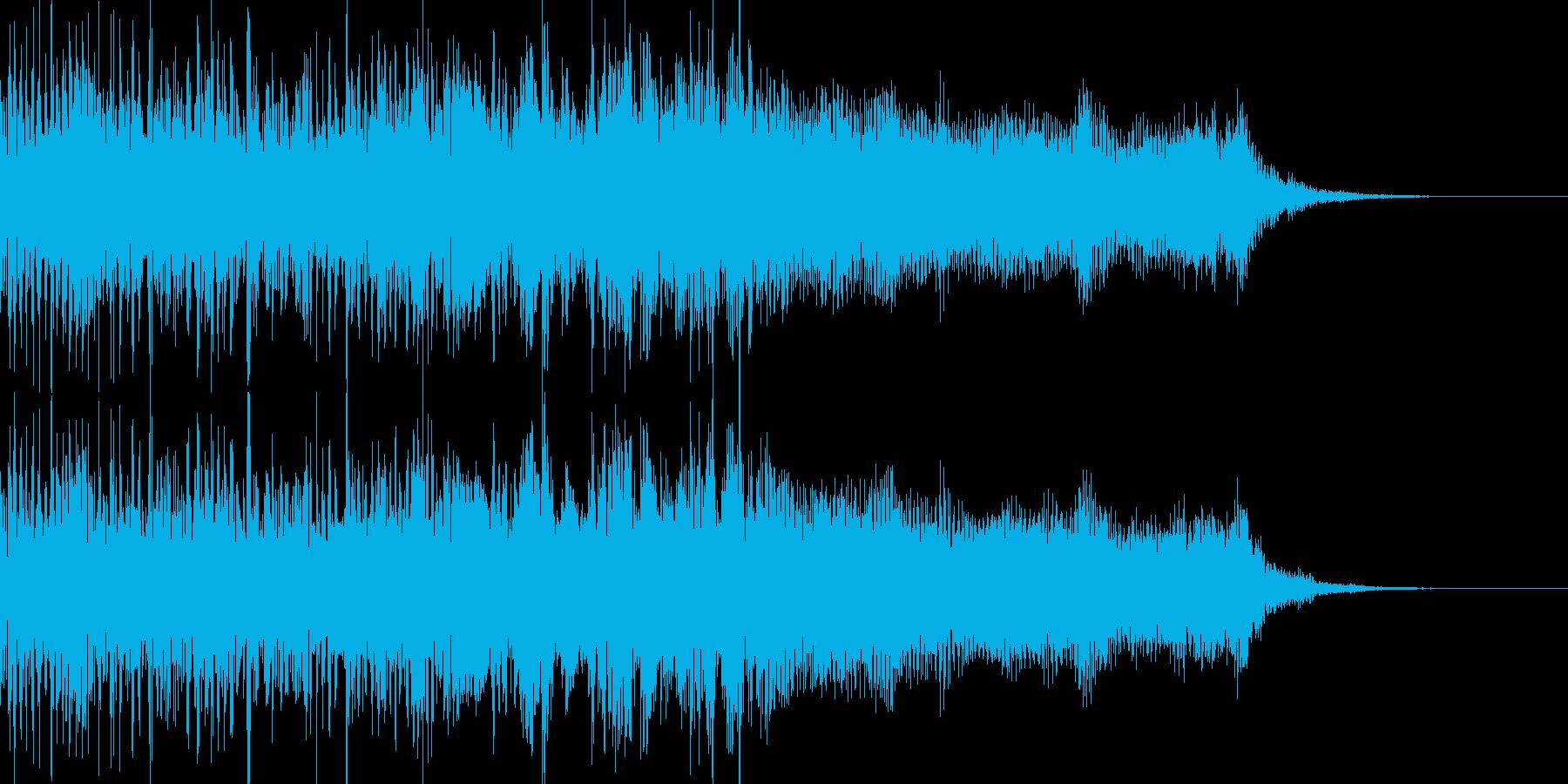 勢いがあり攻撃的なメタルロックの再生済みの波形
