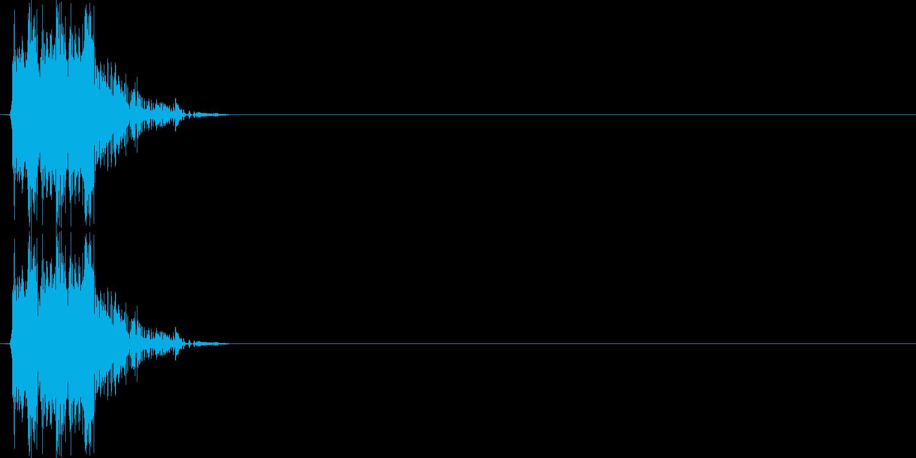 ドドドッ(銃声、マシンガン)の再生済みの波形