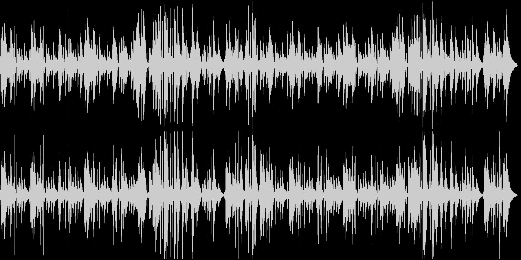 さわやか系ピアノBGMの未再生の波形