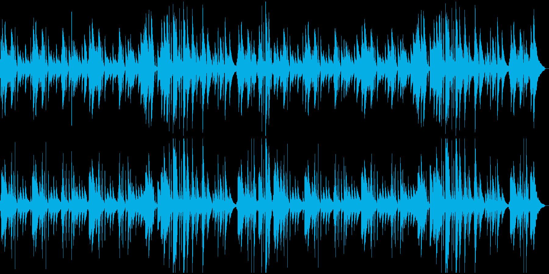 さわやか系ピアノBGMの再生済みの波形