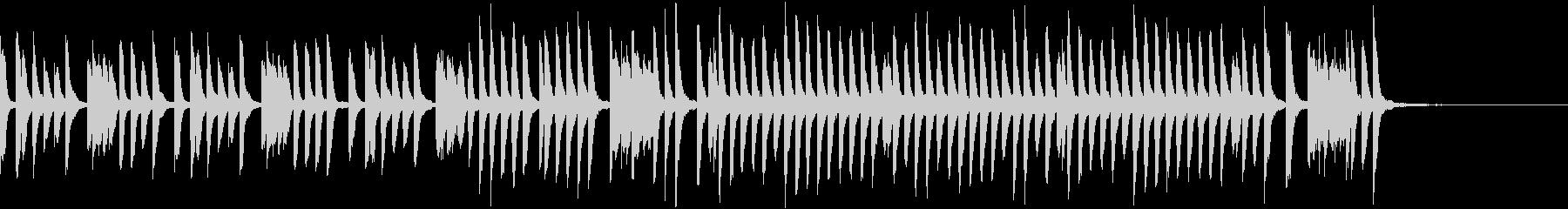 教育テレビ風かわいくて軽快なピアノソロの未再生の波形