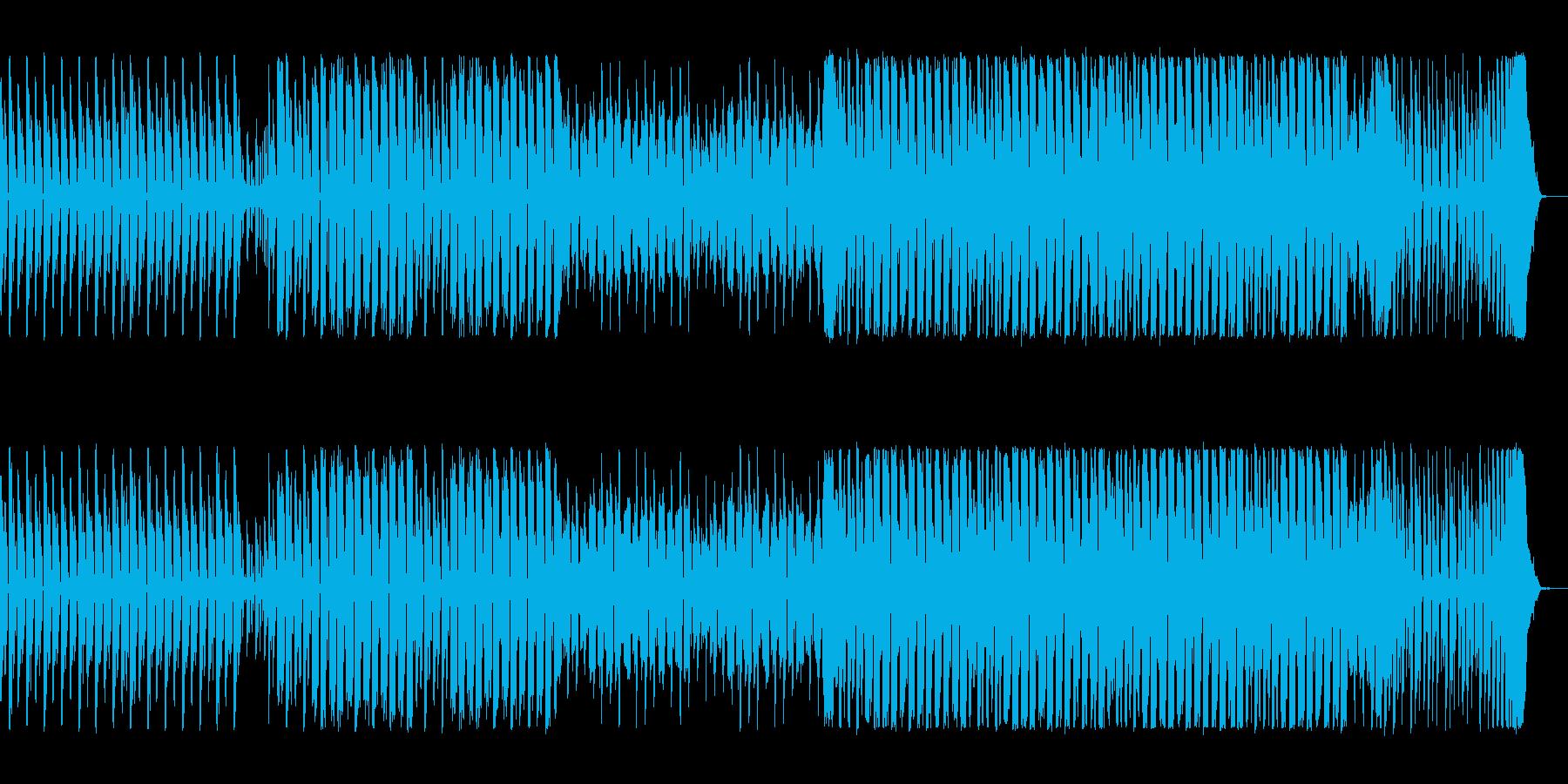ポップで跳ね感のあるテクノの曲の再生済みの波形