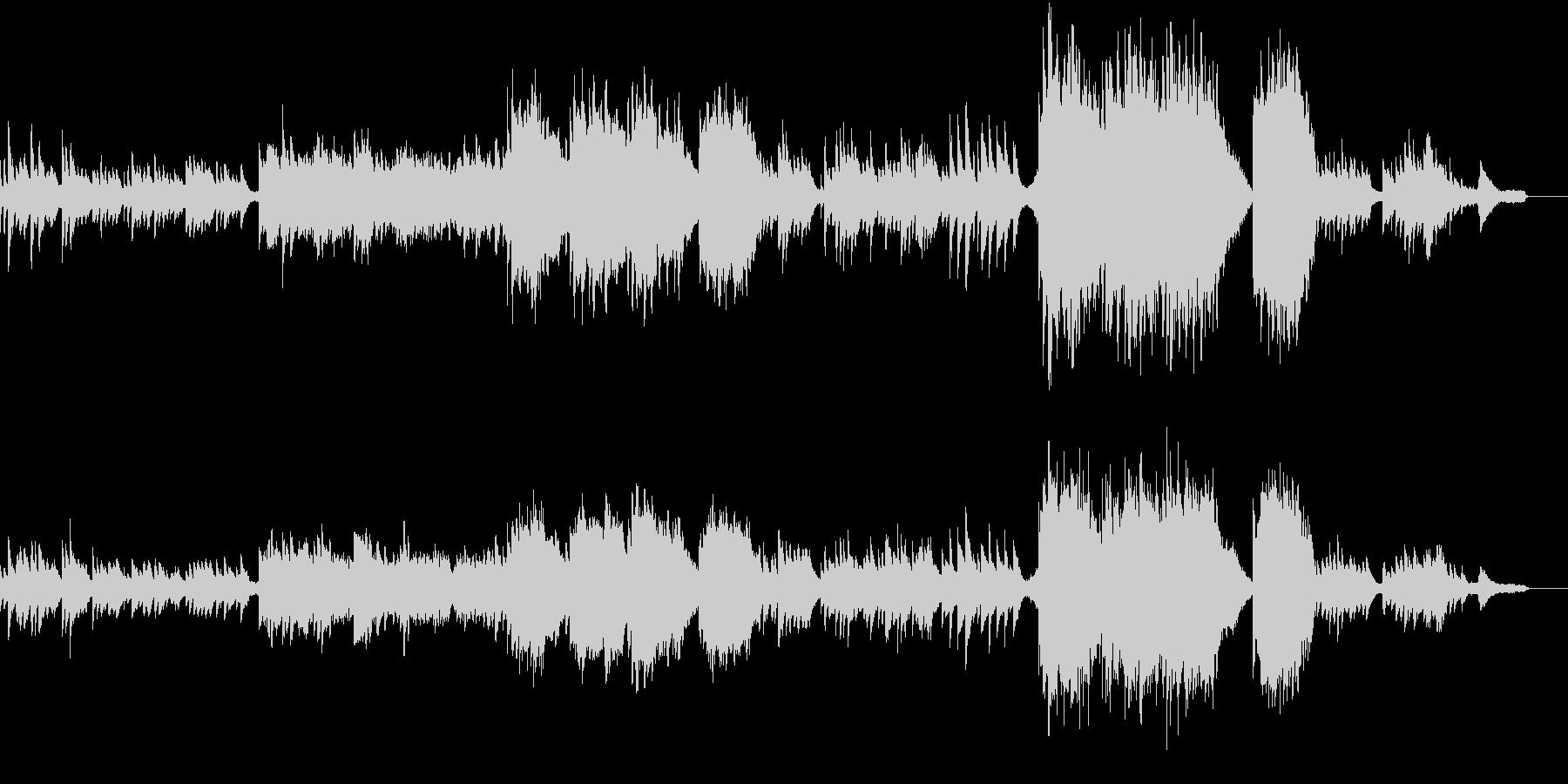 ピアノと弦楽器の切ない劇伴風BGMの未再生の波形