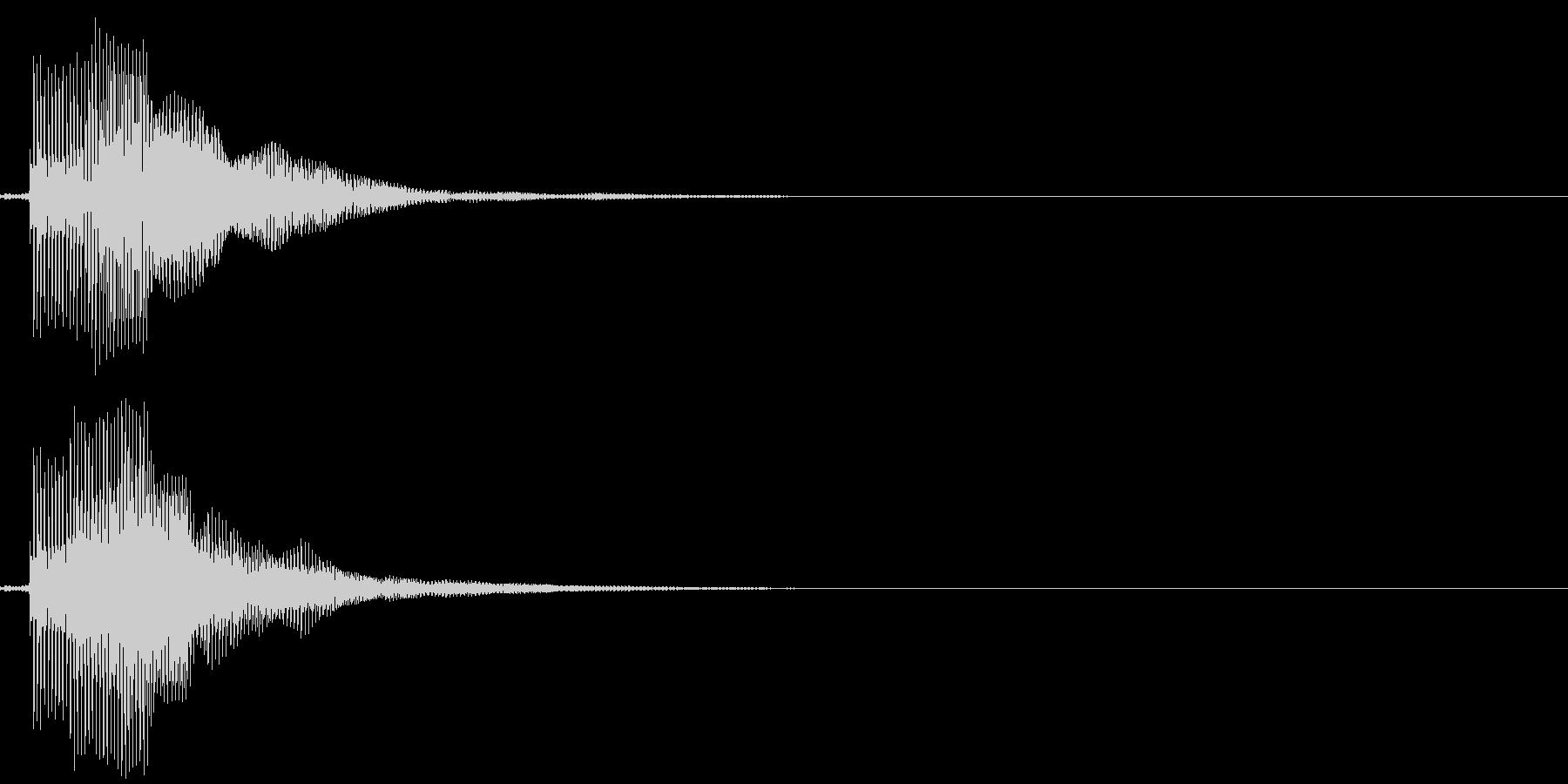 ピ!8bit系の決定/ボタン/クリック2の未再生の波形