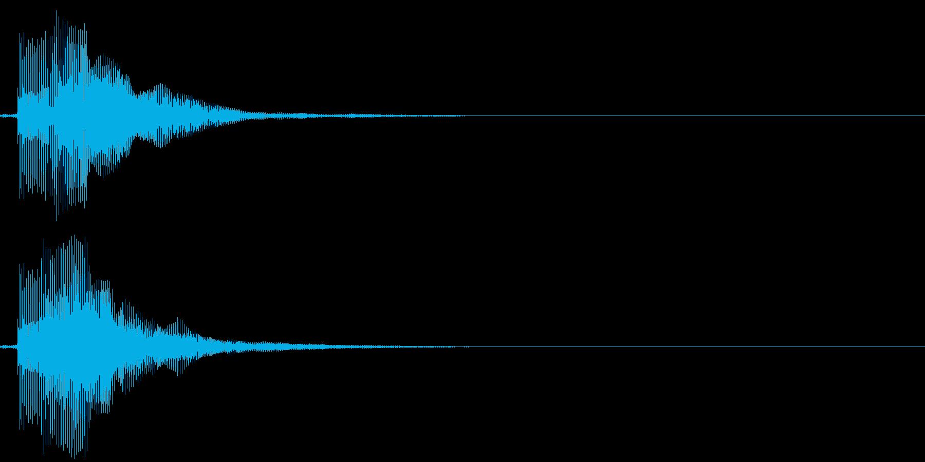 ピ!8bit系の決定/ボタン/クリック2の再生済みの波形